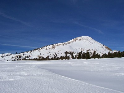 Pyramid Peak's east face and long south ridge.  The actual summit cannot be seen.