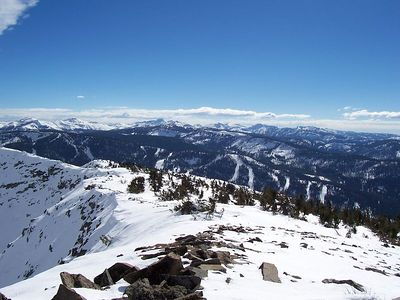 Looking down the south ridge.