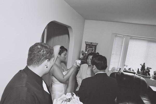 Rosa and Clay Wedding (Brian Noppe B&W)