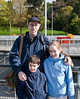 Richard with Benjamin and Isabel at the Chittenden Locks