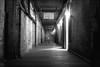 Spooky corridor, Alcatraz, California