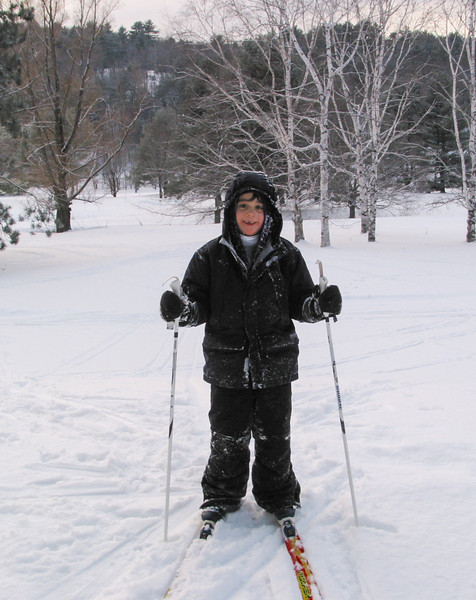 Benjamin cross-country skiing