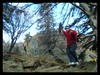 Kelsey Gray walks the slackline rather than working the routes at Boyscout Rock, near Anchorage.