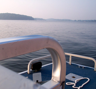 On the back of the boat