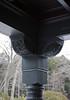 External details: a wooden roof bracket