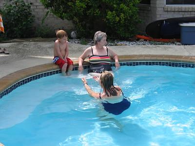 Swimming at Diane's 2004