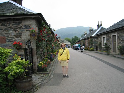 Sarah and the bonnie flowers at Loch Lomond