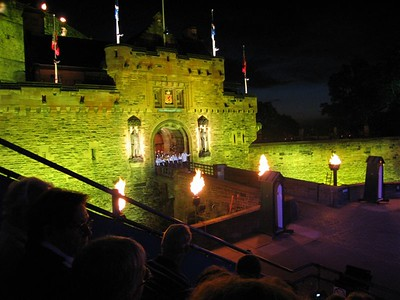 The lights on the Castle