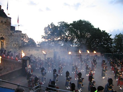 Pipers emerge from the gate of Edinburgh Castle 3