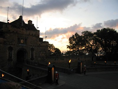 Sunset behind Edinburgh Castle