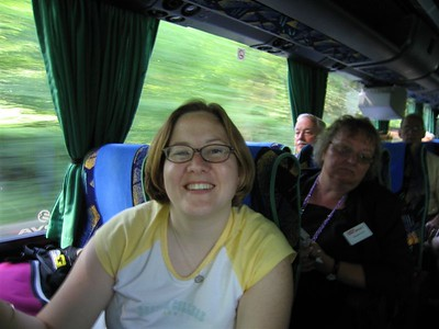 Sarah on the Bus