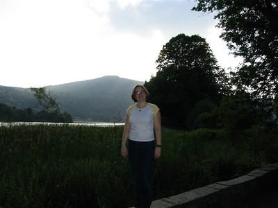 Sarah on Grassmere shore