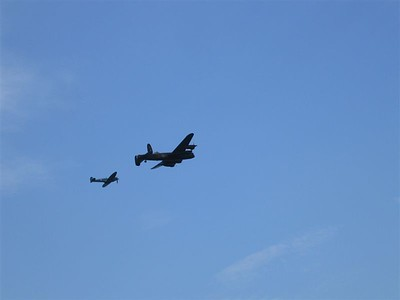 Air Show Lancaster Bomber and Spitfire 2