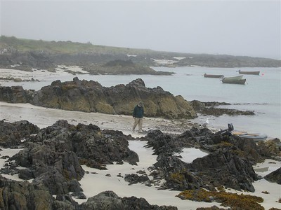 Jeff on the Isle of Iona Beach