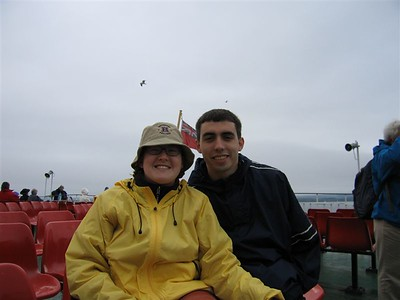 Sarah and Kevin on the Ferry