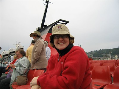 Sarah on the Ferry from Oban to the Isle of Mull