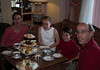 The family at a formal tea at the Empress Hotel