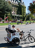 Pedicab in front of the Empress Hotel