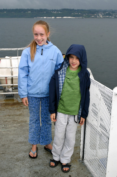 Isabel and Benjamin on the ferry