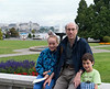 Richard and the kids on the terrace of the Parliament