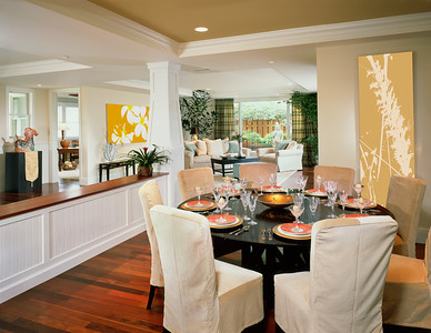 Contemporary Dining Room in Coastal Home