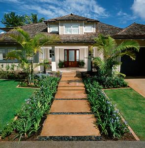Front Exterior of Contemporary Coastal Home