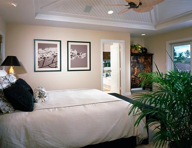 Contemporary Master Bedroom in Coastal Home