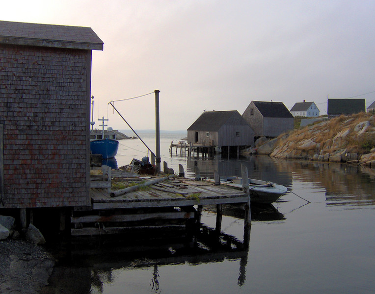 Wharf<br /> <br /> April 2005 Peggy's Cove, Nova Scotia, Canada