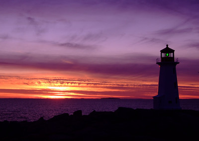 Peggy's Cove Sunset - December 22,2006