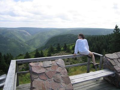 Melanie's visits to Nova Scotia.