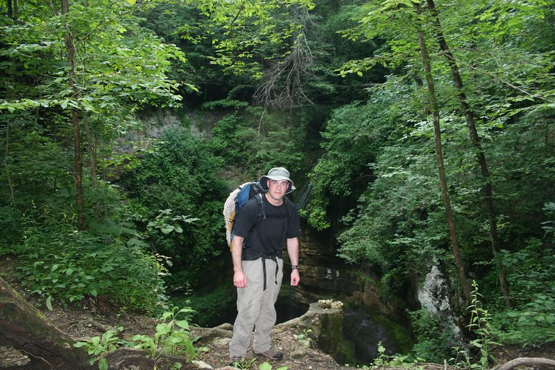 On the edge of Neversink, a gorgeous 162 foot pit with rare and endangered ferns and serene waterfalls cascading down the sides.