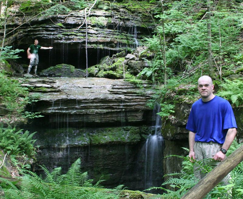 The beautiful entrance to Fern Cave