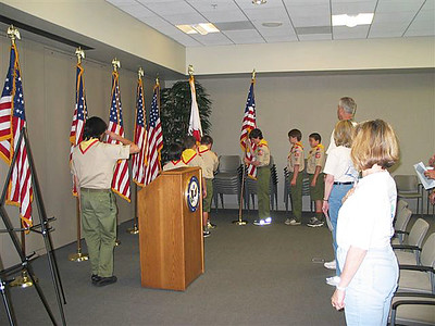 4/30/2005 - Flag Ceremony