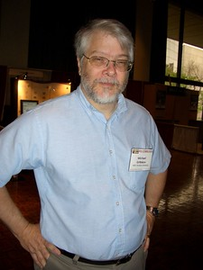 Mike Gribskov, ISCB President, at RECOMB 2005