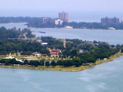 View from my hotel window looking toward Belle Isle