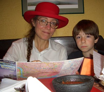 Isabel took this shot in Jose's.  David and I were looking at this map because he had wondered whether the train was riding on the same tracks as those we'd crossed in the woods at Fresh Pond.  The answer was interesting.