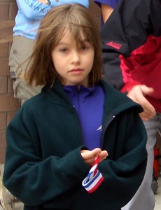 Isabel and her first place medal