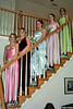 prom girls on steps