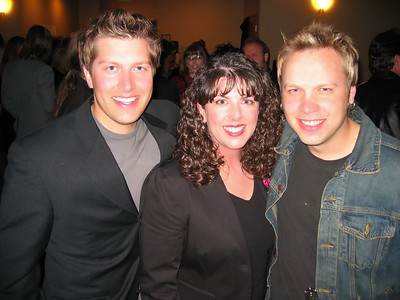 Ryan McIntyre, me and Keith Pulvermacher. Keith is an amazing guitar player and worked on my CD.