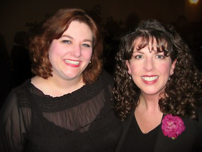Ellen Winters and I at the party after the awards show.