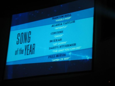 Yup. I had to take a picture of this.  I'm nominated in the same category as Daryl Stuermer!