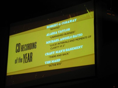 Pinch me.  I was nominated for CD of the Year!
