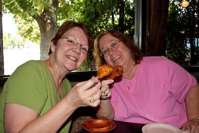 Carole & Gail Enjoying Wings