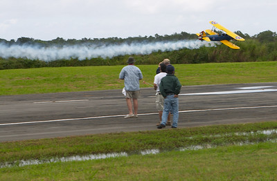A low pass with smoke