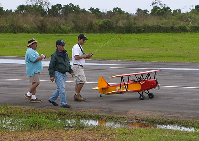 Heading out for the pattern flight