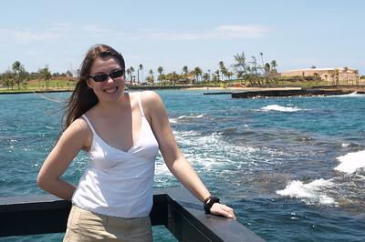 Liz overlooks sea life