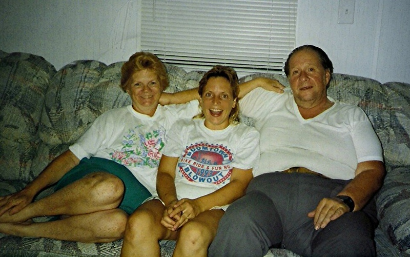 Mom & Bill visiting Kim in NC summer 1993