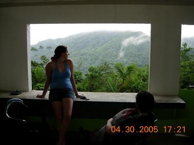 Liz enjoys the view