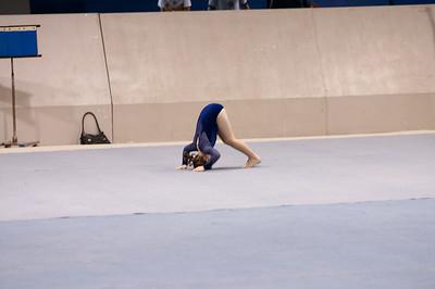 Natalia does her floor routine