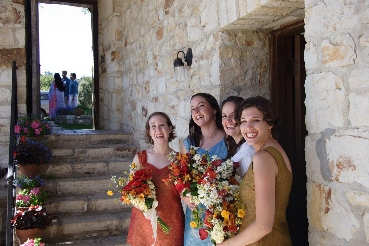Beautiful women at a beautiful wedding